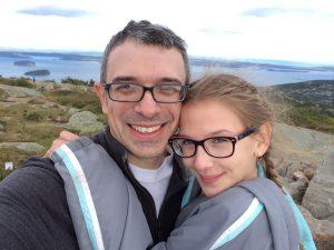 Amelia and Brian atop Cadillac Mountain.